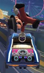 Mario (Musician) performing a trick.