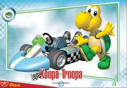 Mario Kart Wii trading card of Koopa Troopa.