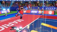 Mario prepares to smash the ball in Mario Tennis Aces