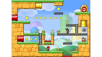 Miiverse screenshot of the 33rd official level in the online community of Mario vs. Donkey Kong: Tipping Stars