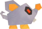 An origami Scaredy Rat from Paper Mario: The Origami King.