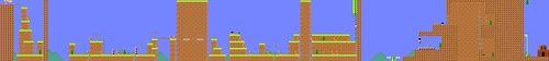 Layout of NES REMIX (Super Mario Bros. 2) in Super Mario Maker.