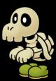 Artwork of Dull Bones from Paper Mario: The Thousand-Year Door