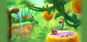 Concept artwork, unlocked in the Extras menu after collecting all Puzzle Pieces in Beehive Brawl