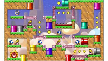 Miiverse screenshot of the 65th official level in the online community of Mario vs. Donkey Kong: Tipping Stars