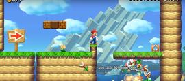 Mario at the beginning of Cat Mario's Course.