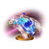 Blue Falcon trophy from Super Smash Bros. for Wii U
