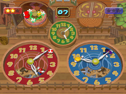 Waluigi and Wario in Clock Stoppers in Mario Party 5