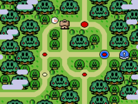 The world Forest of Illusion as it appears in the game Super Mario World.