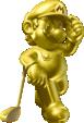 Gold Mario from Mario Golf: World Tour.