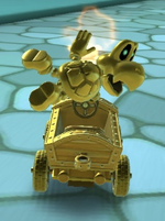 Dry Bones (Gold) performing a trick.