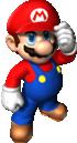 Artwork of Mario in Super Mario 64 DS.