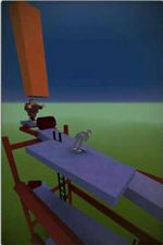 """The Donkey Kong-like stage, """"Monkey Business"""", in Stair Dismount"""