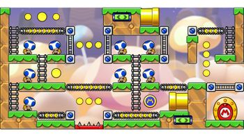 Miiverse screenshot of the 11th official level in the online community of Mario vs. Donkey Kong: Tipping Stars