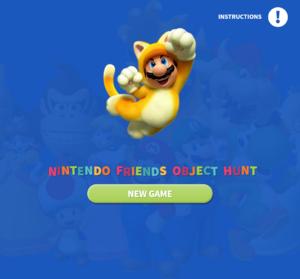 Title screen of Nintendo Friends Object Hunt