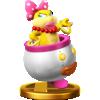 Wendy's trophy render from Super Smash Bros. for Wii U