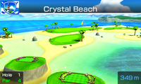 Hole 1 of Crystal Beach from Mario Sports Superstars