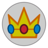 Peach emblem from Mario Kart 8