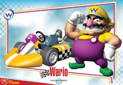 Mario Kart Wii trading card of Wario.