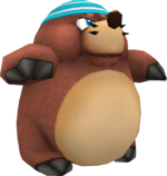 Rendered model of the Monty enemy in Super Mario Galaxy.