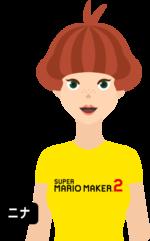 Artwork of Nina from Super Mario Maker 2