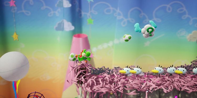 Picture shown with the first question in Yoshi's Crafted World Trivia Quiz