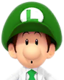 Sprite of Dr. Baby Luigi from Dr. Mario World
