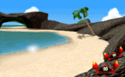 The icon for Koopa Troopa Beach, from Mario Kart 64.