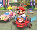 The icon of the Wario Cup challenge from the Cat Tour in Mario Kart Tour.