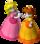 Artwork of Princess Peach and Princess Daisy, from Mario Party 7