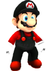 Rendered model of Flying Mario in Super Mario Galaxy.