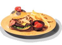 Mario's Bacon Cheeseburger from Super Nintendo World