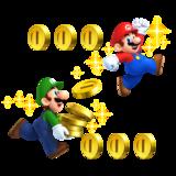 Mario and Luigi, collecting Coins.