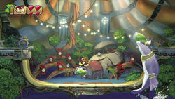 Green Finleys at Big Top Bop in Donkey Kong Country: Tropical Freeze