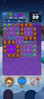 Stage 1161 from Dr. Mario World