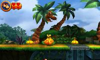 The Kongs jump over a few gourds
