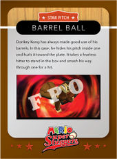 Level 2 Barrel Ball card from the Mario Super Sluggers card game