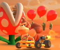 The icon of the Birdo Cup's challenge from the Cooking Tour and the Baby Luigi Cup's challenge from the 2021 Trick Tour in Mario Kart Tour.