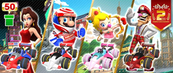 The City Racer Pipe 1 from the 2nd Anniversary Tour in Mario Kart Tour