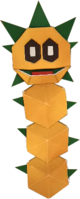 An origami Pokey from Paper Mario: The Origami King.