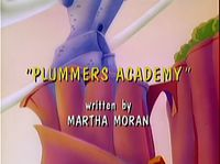 Error in the title screen of the episode Plumber's Academy.