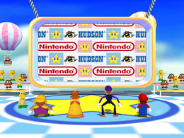 Wario is first in Random Ride from Mario Party 5