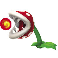 A Big Venus Fire Trap in New Super Mario Bros. 2.