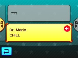 """Selecting """"CHILL"""" from Dr. Mario from Mario Party: Star Rush"""
