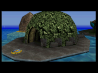 A cutscene, where the player first discovers K. Lumsy Island.