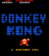 Donkey Kong arcade game.