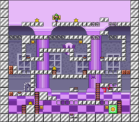 Level 10-5 map in the game Mario & Wario.