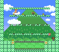 Level 3-8 map in the game Mario & Wario.