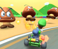 The icon of the Larry Cup challenge from the 2020 Trick Tour and the Baby Mario Cup challenge from the Snow Tour in Mario Kart Tour.