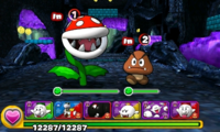 Screenshot of World 2-5, from Puzzle & Dragons: Super Mario Bros. Edition.